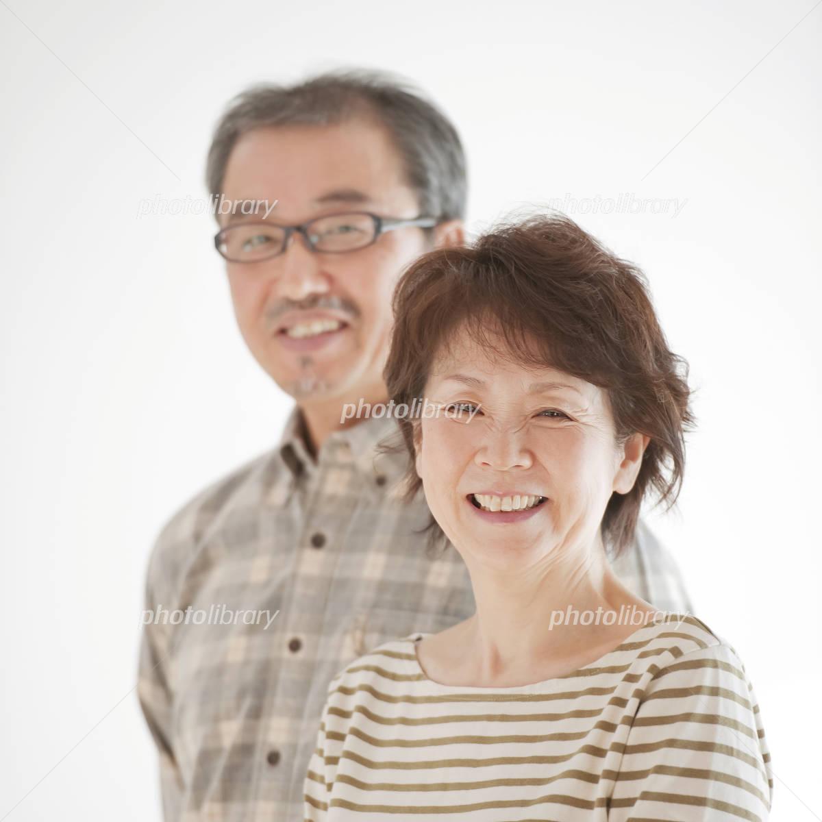 Smile senior couple Photo