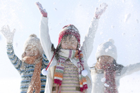 Children rise up the snow Stock photo [2444682] Person