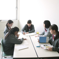 Junior high school students to the study Stock photo [2444780] Person