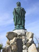 Hiei of Dengyodaishi statues stock photo