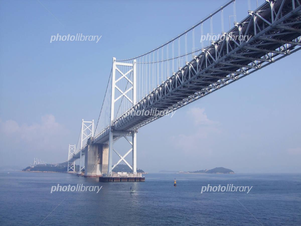 I go under the Seto Ohashi Bridge Photo