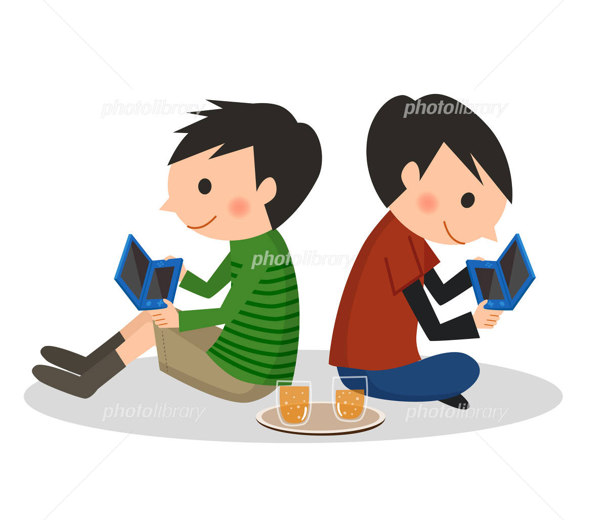 ゲームをする男の子 イラスト素材 2568879 フォトライブラリー