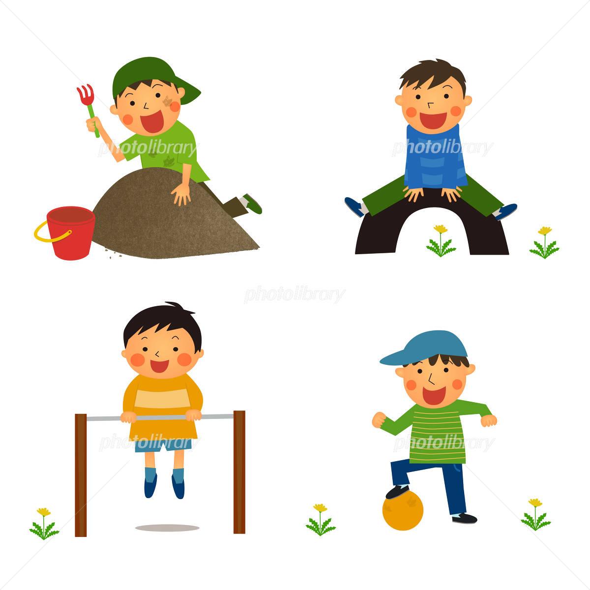 外遊びをする男の子 イラスト素材 2569595 フォトライブラリー