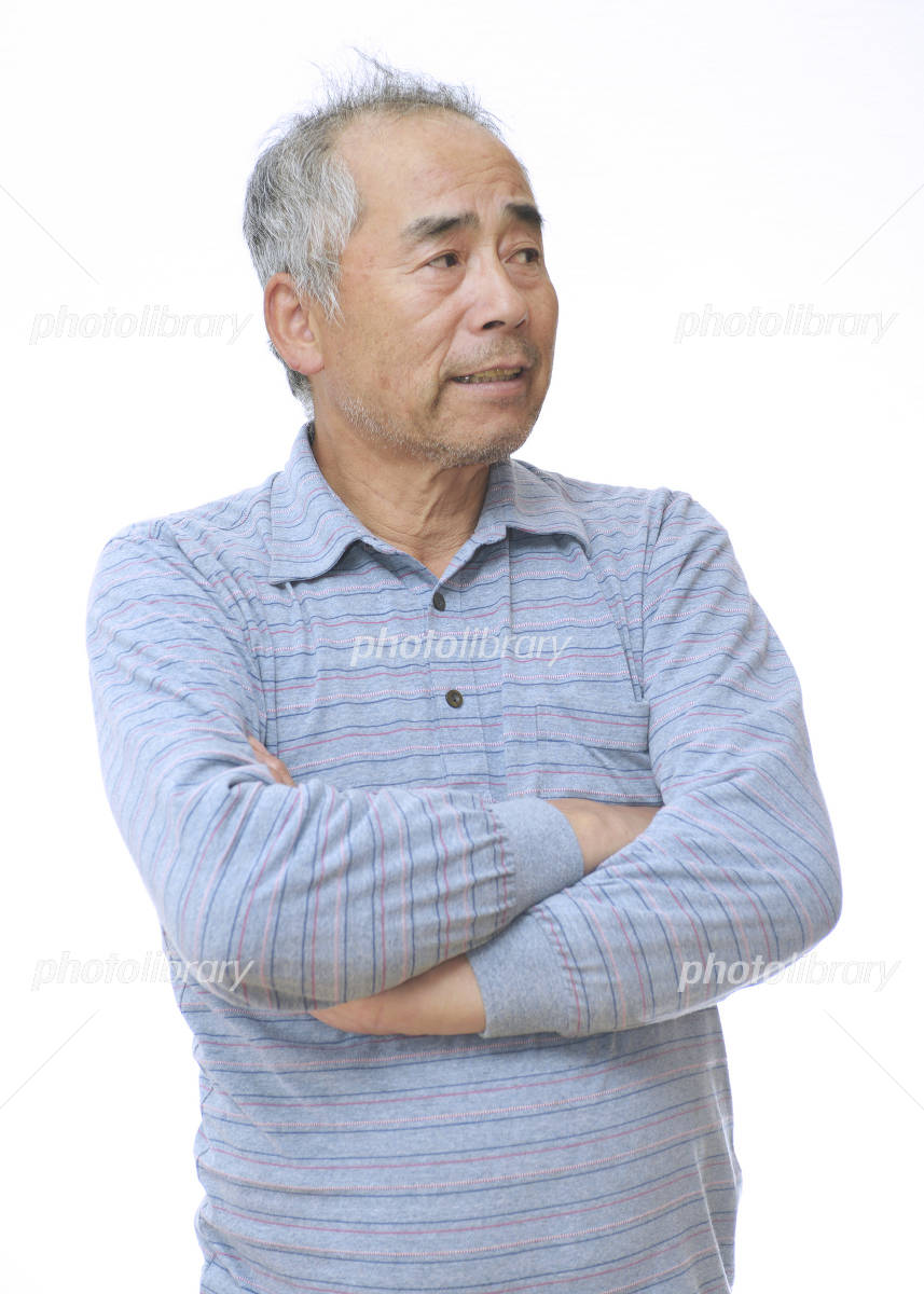 Men who his arms folded Photo