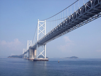 I go under the Seto Ohashi Bridge Stock photo [2562907] Seto-Ohashi
