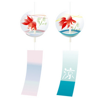 Summer greeting goldfish of wind chimes [2566483] Wind