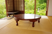 Japanese-style room with a low dining table Stock photo [2571295] Low