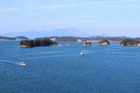 Superb view of Matsushima Amakusa and Shimabara Peninsula Stock photo [2575238] Boat