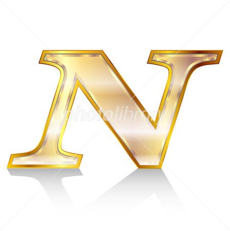 n アルファベット エンブレム イラスト素材 2672232 フォトライブ