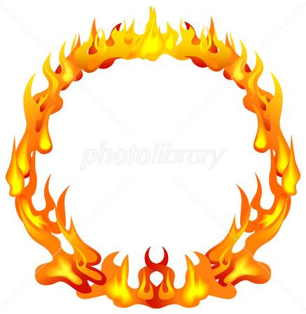炎の輪フレイムフレーム イラスト素材 2677656 フォトライブ