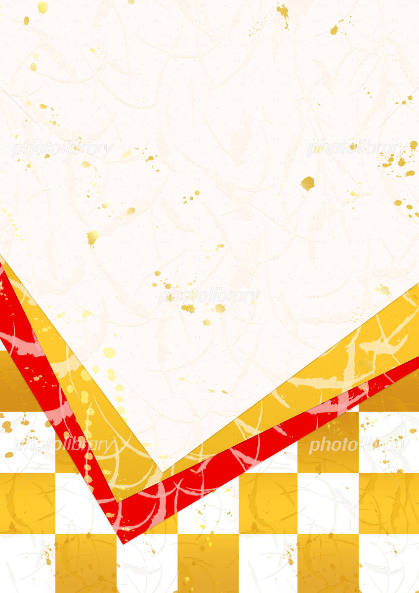 Celebration Japanese paper overlaid イラスト素材