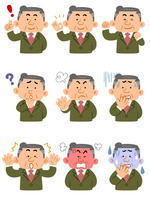 Uncle various expressions [2753938] Businessman