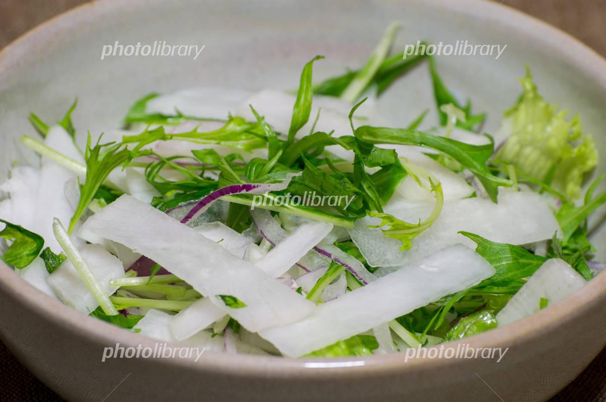 大根 サラダ 水菜