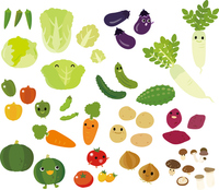 Character of a lot of vegetables [2839596] Vegetables
