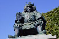 Takeda Shingen bronze statue of public Stock photo [2840966] Yamanashi