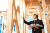Site supervisor to check the residential construction site Stock photo [2845035] Site