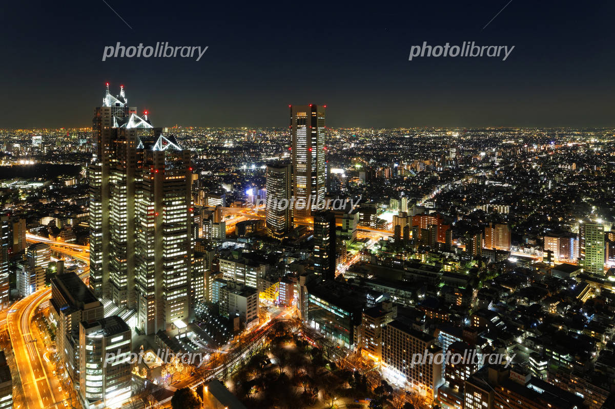 Lights of skyscrapers and the city of Shinjuku Photo