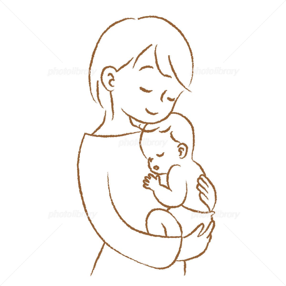 赤ちゃんとママ 抱っこ イラスト素材 2930551 フォトライブラリー