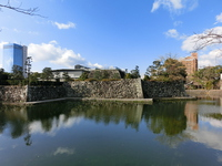 Ishigaki and tower blocks of Oita Prefecture Uchijiro castle keep Stock photo [2922156] Oita