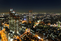 Lights of skyscrapers and the city of Shinjuku Stock photo [2923258] Light