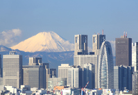 Mount Fuji views and Shinjuku skyscrapers (January 2014) super-telephoto Stock photo [2924024] Mt.
