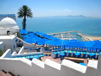 Tunisia blue and white of the city Sidi Bou Said Stock photo [2924557] Tunisia