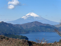 Ship and Fuji floating on Lake Ashi Stock photo [3005573] Mt.
