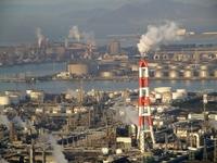 Morning of Mizushima coastal industrial zone Stock photo [3006669] Okayama