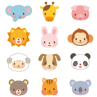 Cute animal illustration set [3008831] Animal