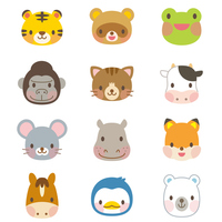 Cute animal illustration set [3008838] Animal