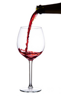 Burgundy white back to pour the red wine from the bottle Stock photo [3012500] Red