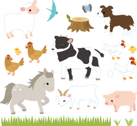 Cattle ranch, pig, chicken and animals [3013244] Ranch