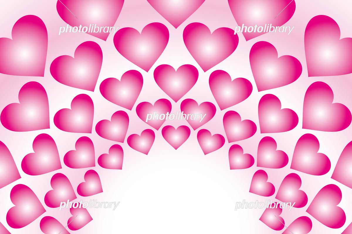 ピンクの壁紙 ハート模様 イラスト素材 3087688 フォトライブ