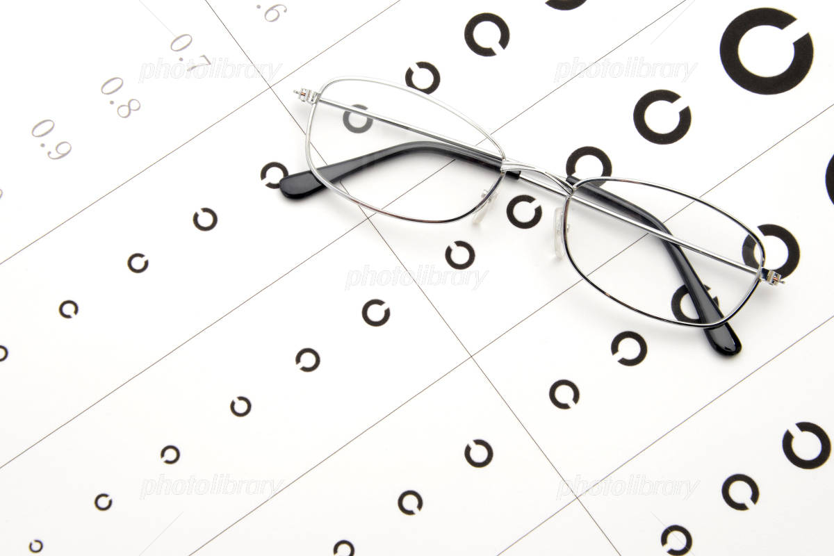 Glasses and vision inspection Photo