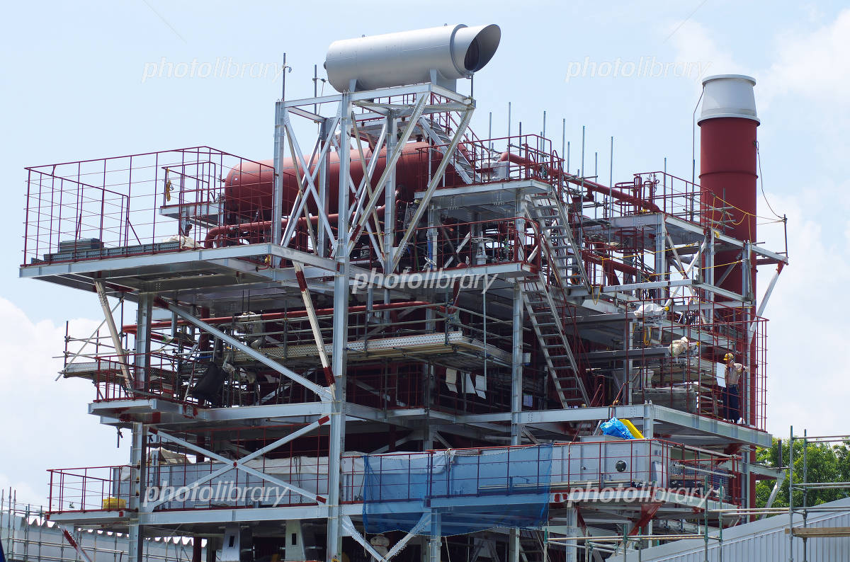 Woody biomass power plant under construction thinnings dedicated Photo