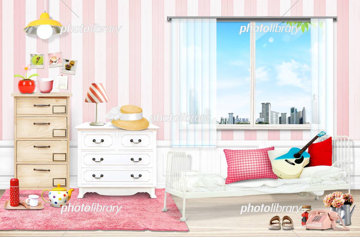 女の子の部屋 イラスト素材 フォトライブラリー Photolibrary