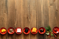 New Year dishes and New Year decorations Stock photo [3192008] Osechi-ryori