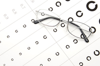 Glasses and vision inspection Stock photo [3192132] Glasses