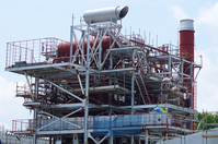 Woody biomass power plant under construction thinnings dedicated Stock photo [3195017] Power