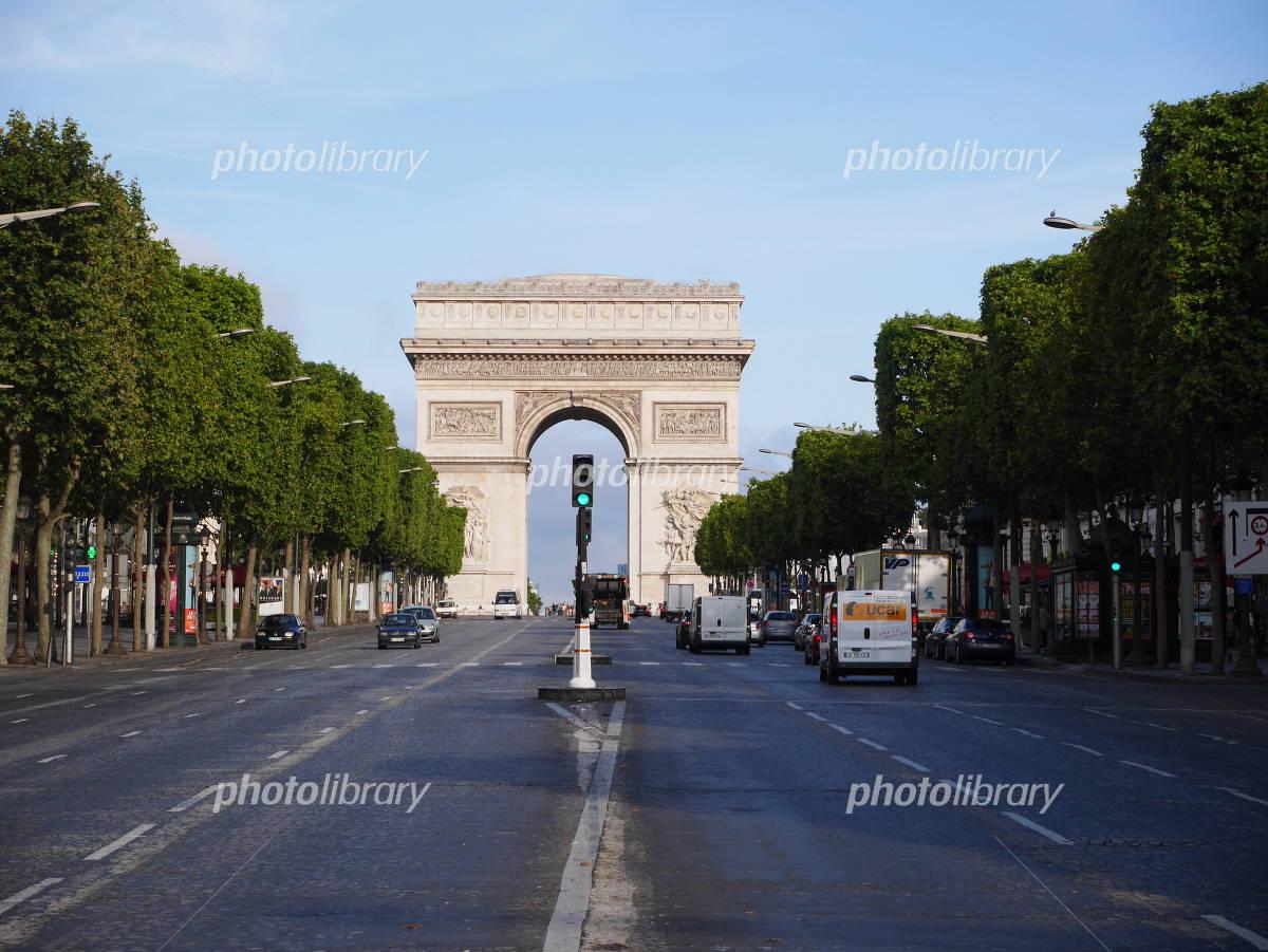 Paris Arc de Triomphe famous scenery world heritage Photo