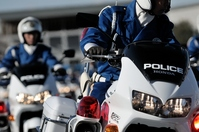 White by image (for traffic enforcement) Stock photo [3294632] Motorcycle