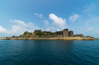 Nagasaki warship Island (Hashima) stock photo