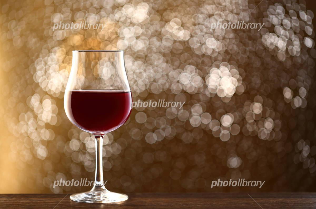 Red wine and Illumination Photo