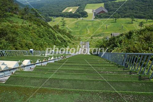 豪円山スキー場のジャンプ台(夏...