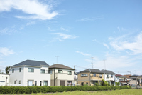 Detached houses and blue sky Stock photo [3396344] Home