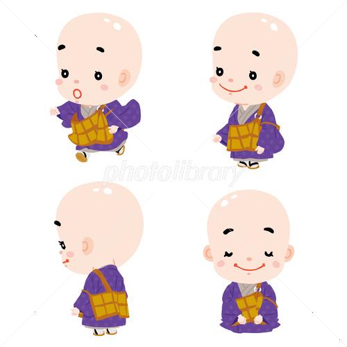 かわいいお坊さん02 イラスト素材 3486209 フォトライブラリー