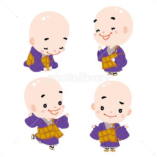 かわいいお坊さん03 イラスト素材 3486217 フォトライブラリー