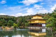 World Heritage Temple of the Golden Pavilion stock photo