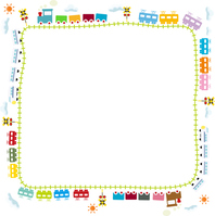 Frame for children train and the line [3586953] For