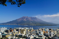 Sakurajima from Shiroyama observatory Stock photo [3589015] Sakurajima